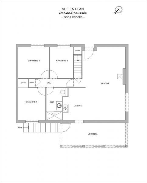 Vente maison f4 98m sur landes genusson de 98m de classe for Plan maison type f4