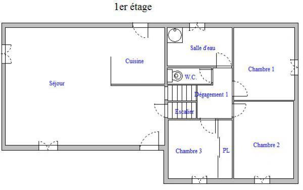 Plan d une maison de 120m2 cool plan maison rez de - Plan d une maison de 120m2 ...