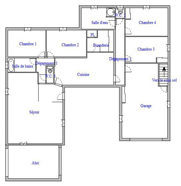 Plan maison u planmasse plan maison de plain pied en u for Ashoka a la maison annexe