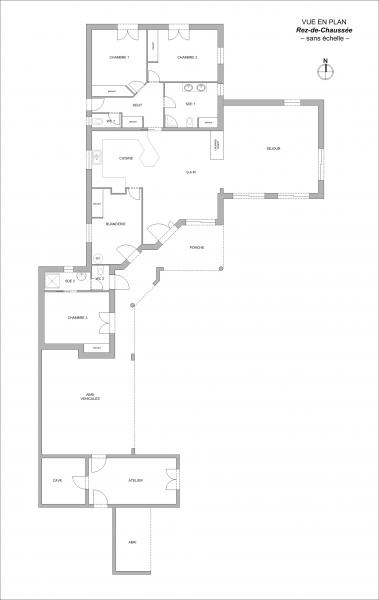 Plan Maison 153m² Beauvoir-sur-Mer