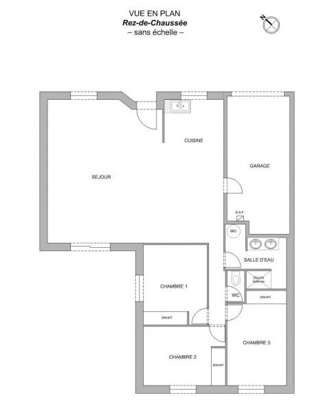 Plan Maison F4 CORCOUE-SUR-LOGNE