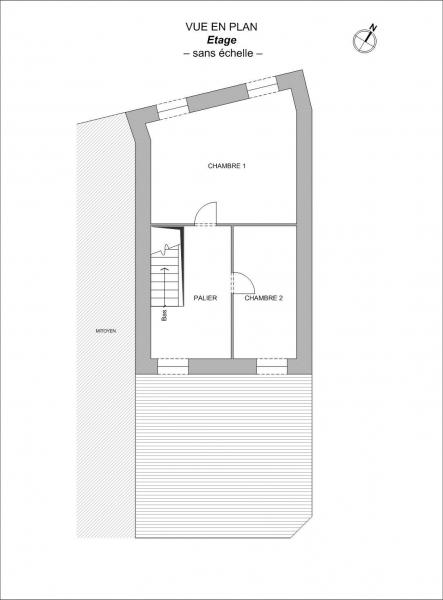 Plan Maison F3 en R+1 SAINT COLOMBAN