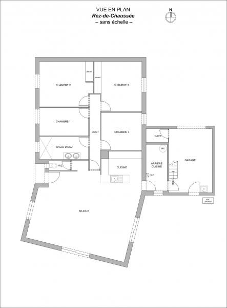 Plan Maison F5 NORT-SUR-ERDRE