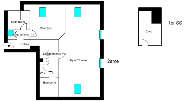 Plan Appartement DAMPRICHARD
