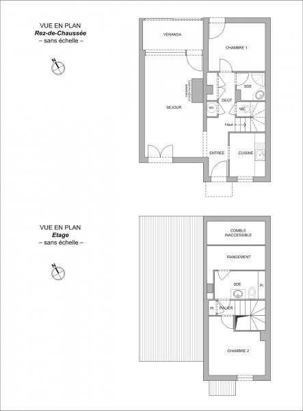 Plan Maison F3 PORNIC